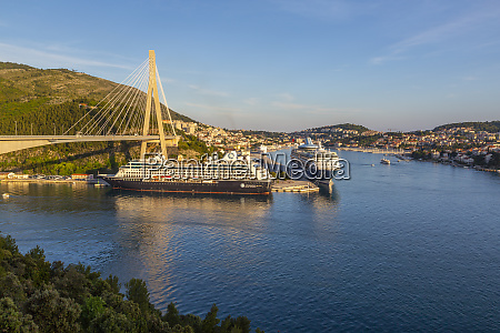 view of cruise ships in the