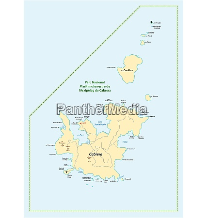 map of the balearic island cabrera