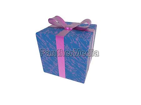 violet blue gift box or present