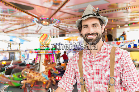 man in bavarian tracht at traditional