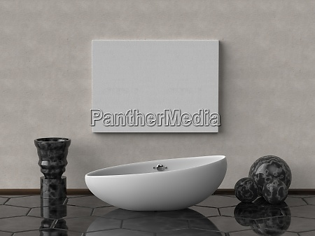 mock up canvas poster print with