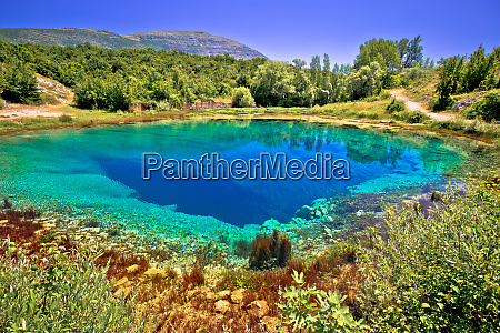 cetina river source or the eye