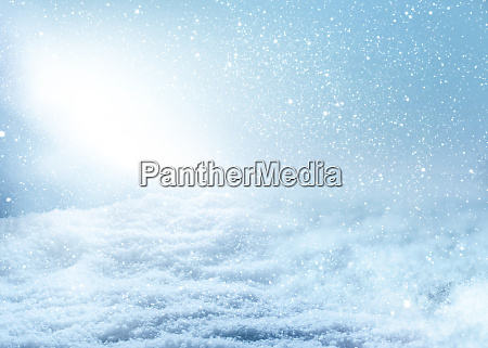 winter scenery with snowflakes