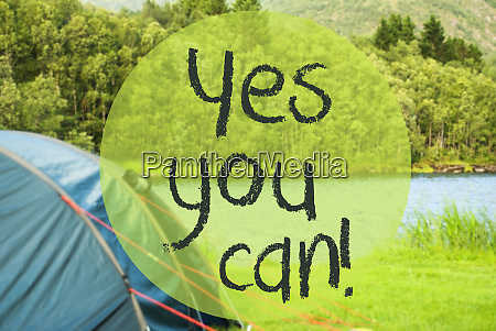 lake camping text yes you can