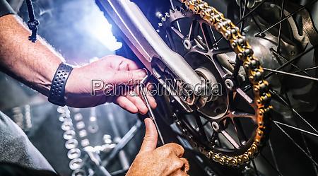 mechanic working in garage repair service