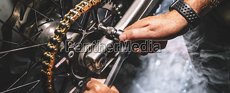 mechanic working in garage repair service