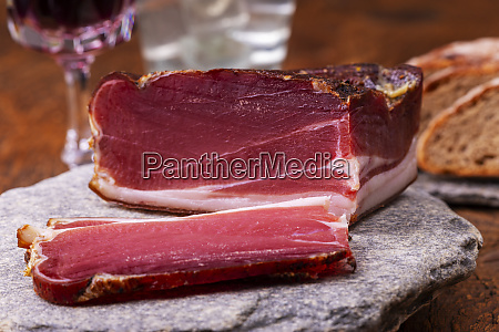 south tyrolean speck on granite