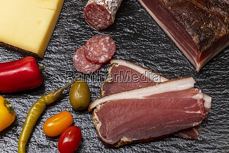 south tyrolean speck on slate