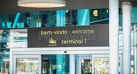 exterior view of lisbon international airport