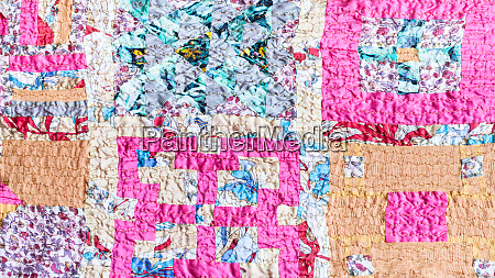 pattern of patchwork scarf stitched from