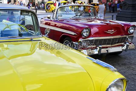 vintage cars parked havana cuba