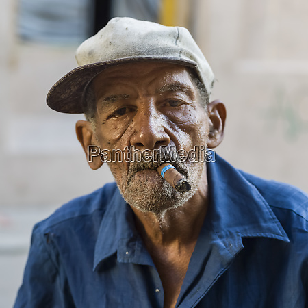 portrait of a senior cuban man
