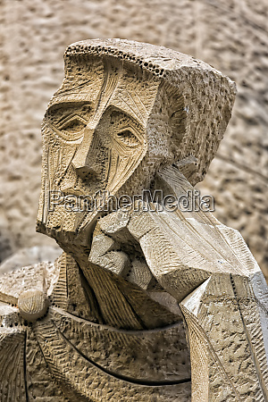 sculpture of human likeness sagrada familia