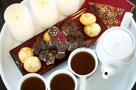 tea served on a tray with