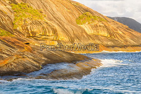 granite boulders at salmon pools