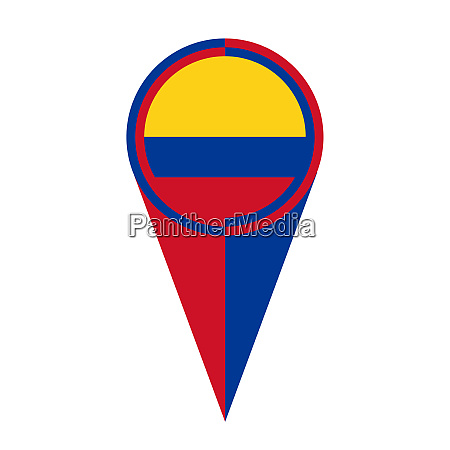 colombia map pointer location flag