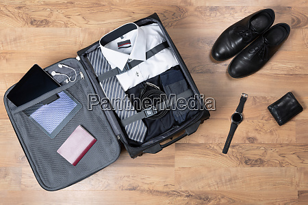 business trip luggage and people concept