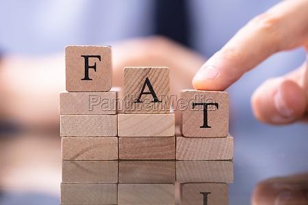 reduce fat concept