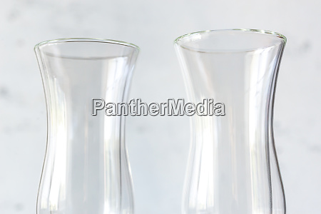 empty double wall glasses