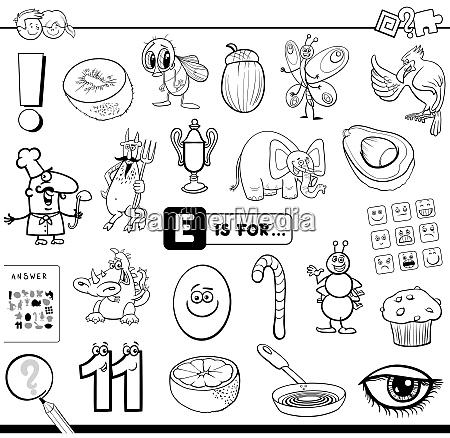 e is for educational task coloring