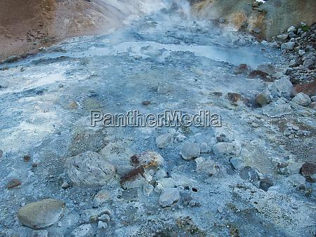 active geothermal area near krysuvik in