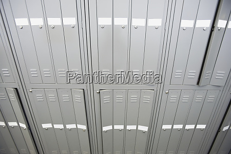high angle view of lockers