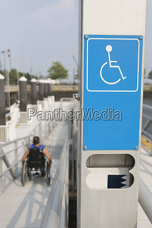 close up of a disabled signboard