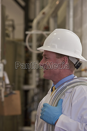 engineer in a chemical plant