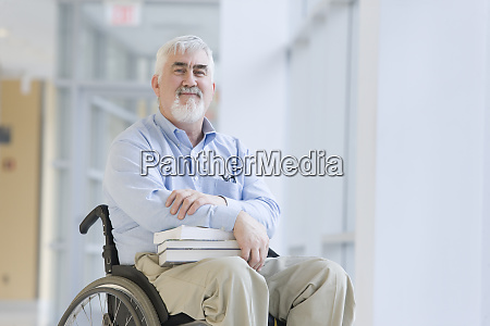 portrait of a professor with muscular