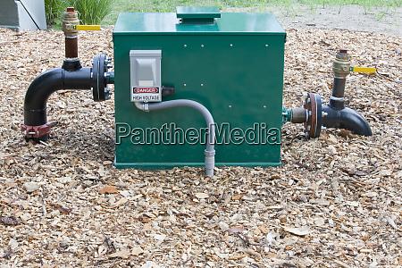 irrigation pump in a field