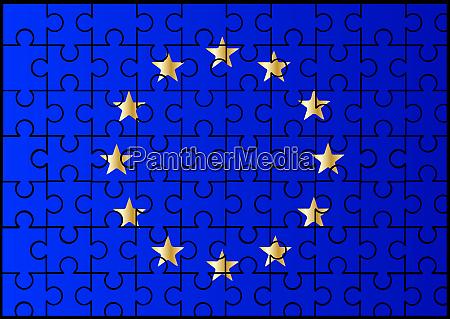 european union flag jigsaw