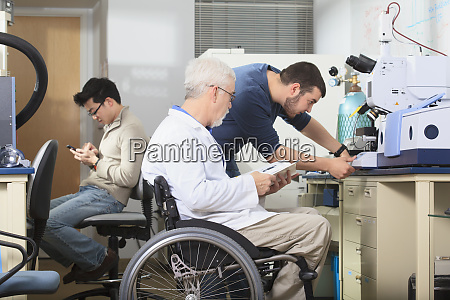 professor with muscular dystrophy and engineering