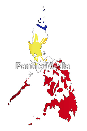 silhuette map of the philippines with