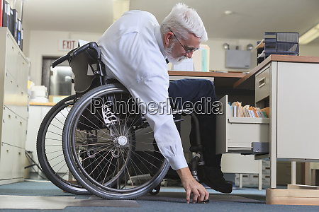man with muscular dystrophy in a
