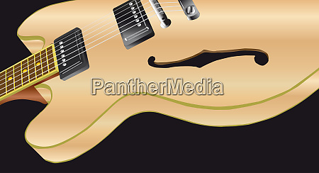 pale wood electric guitar