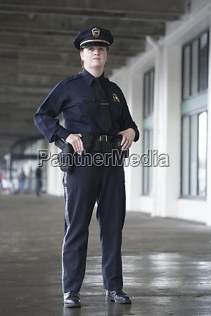 female police officer standing