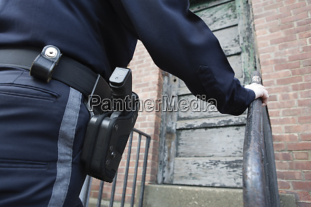 close up of a female police