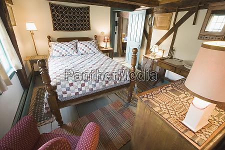 interiors of bedroom in inn