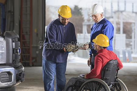 automotive technician at power plant garage