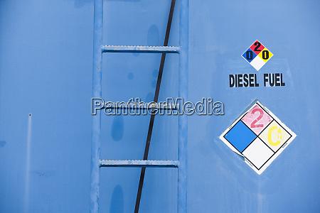 diesel fuel signage on the side