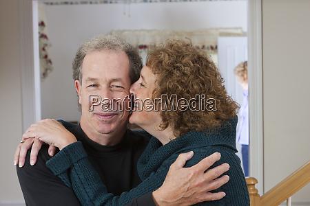 close up of a mature romantic