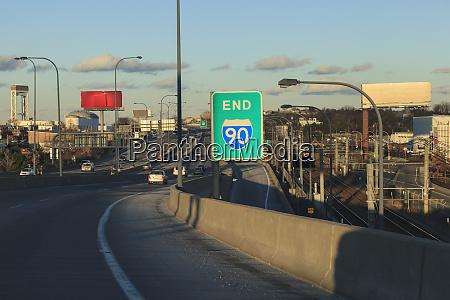 end of mass turnpike rt 90