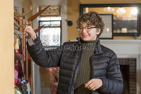 woman with sjogren larsson syndrome picking