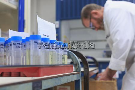 lab chemist preparing samples