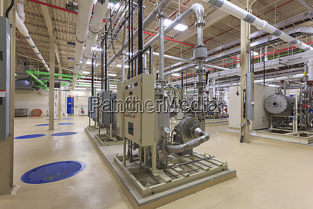 water treatment plant control panel room