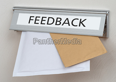a letterbox with the label feedback
