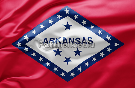 waving state flag of arkansas