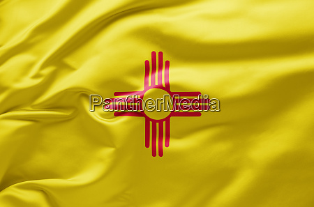 waving state flag of new mexico