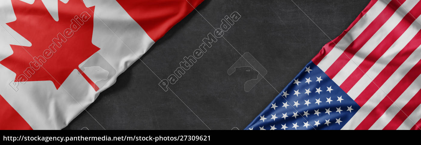flags, of, canada, and, the, united - 27309621