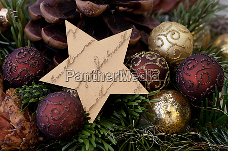 rustic christmas still life with star